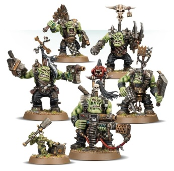 WH40k: Ork Nobz (out of box)