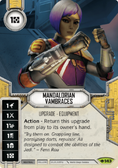 Mandalorian Vambraces [Rare from Way of the Force 143]