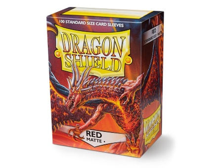 Протекторы Dragon Shield: Matte Red (100 шт.)