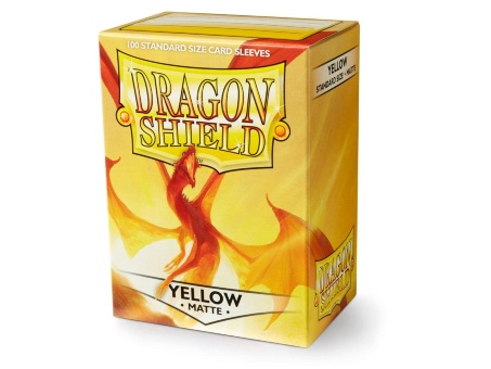 Протекторы Dragon Shield: Matte Yellow (100 шт.)