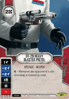 DT-29 Heavy Blaster Pistol [Rare from Spirit of Rebellion 7]