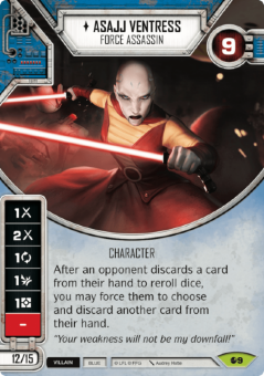 Asajj Ventress - Force Assassin [Rare from Spirit of Rebellion 9]