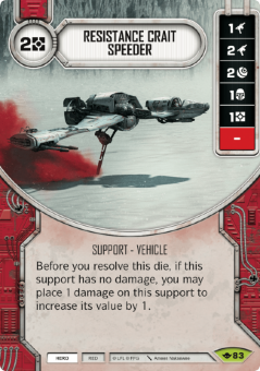 Resistance Crait Speeder [Rare from Way of the Force 83]