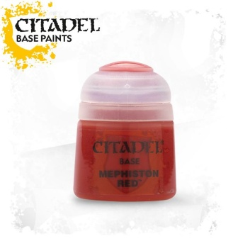 Краска Citadel Base: Mephiston Red