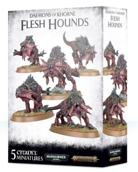 WH40k: Chaos Daemons of Khorne Flesh Hounds